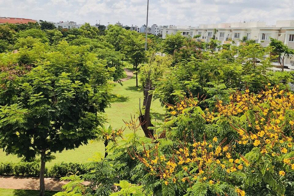 Công viên xanh mát tại dự án Lovera Khang Điền