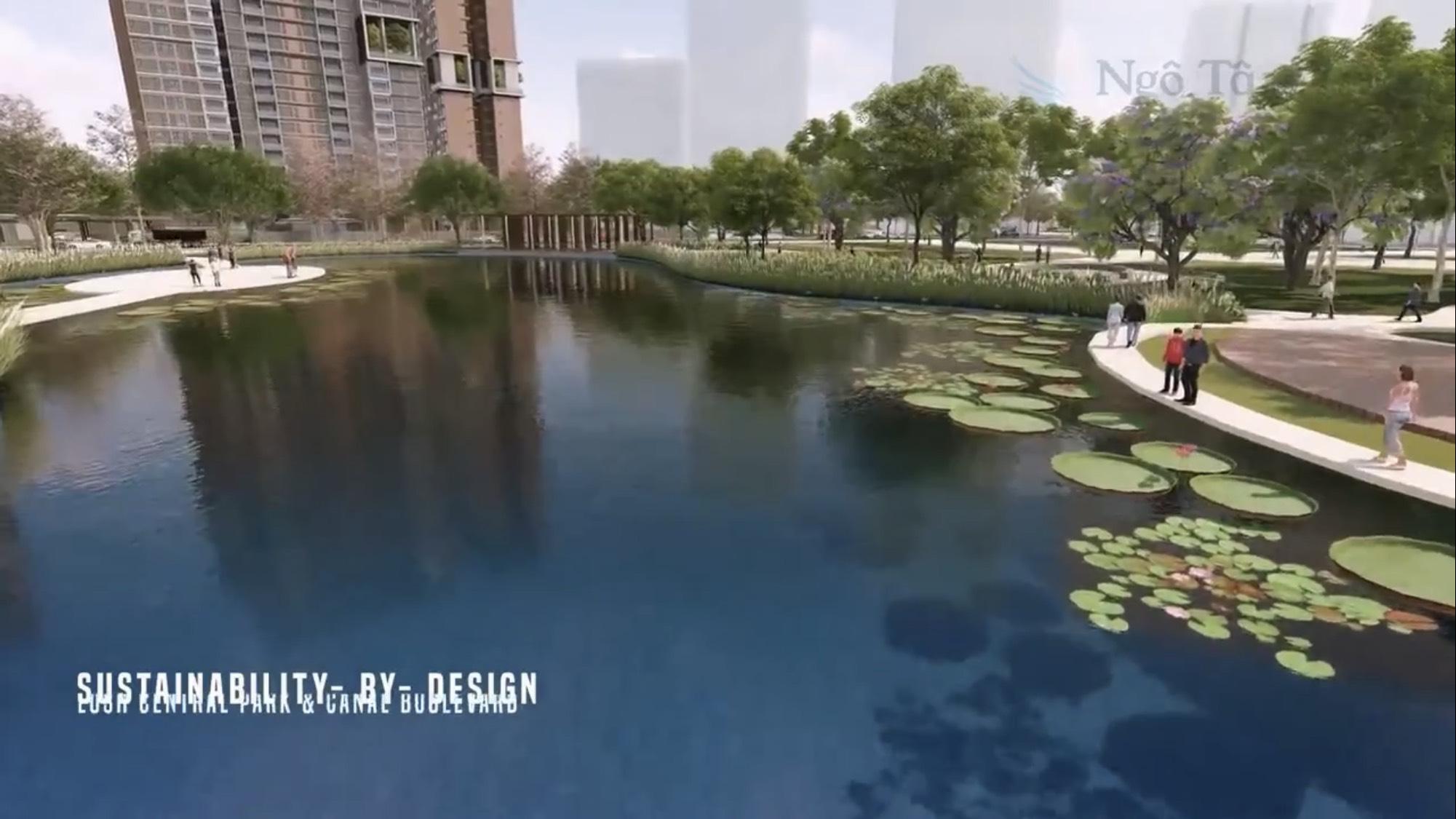 Hồ cảnh quan trung tâm dự án Saigon Sports City Phường An Phú Quận 2