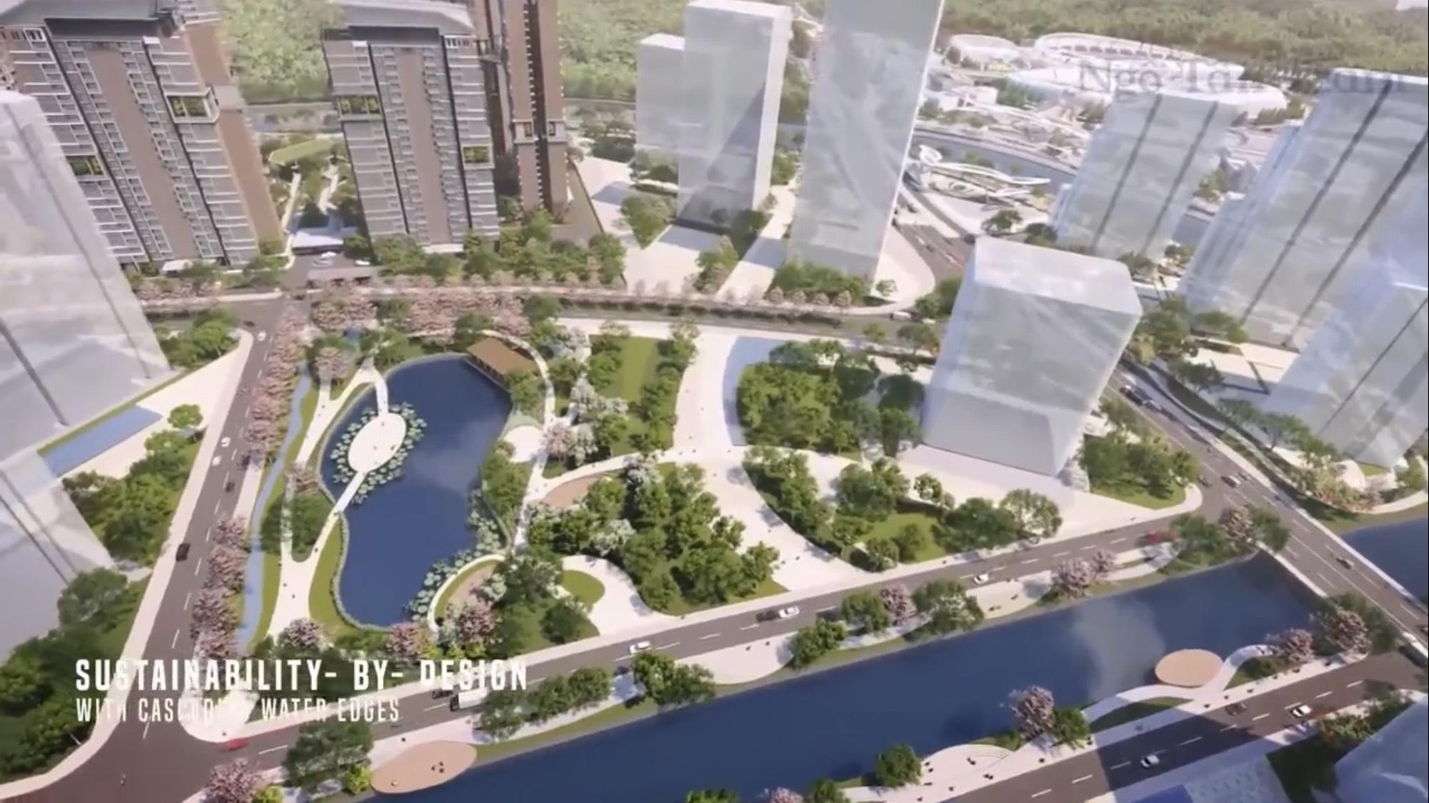 Hồ cảnh quan công viên Sài Gòn Sports City Quận 2