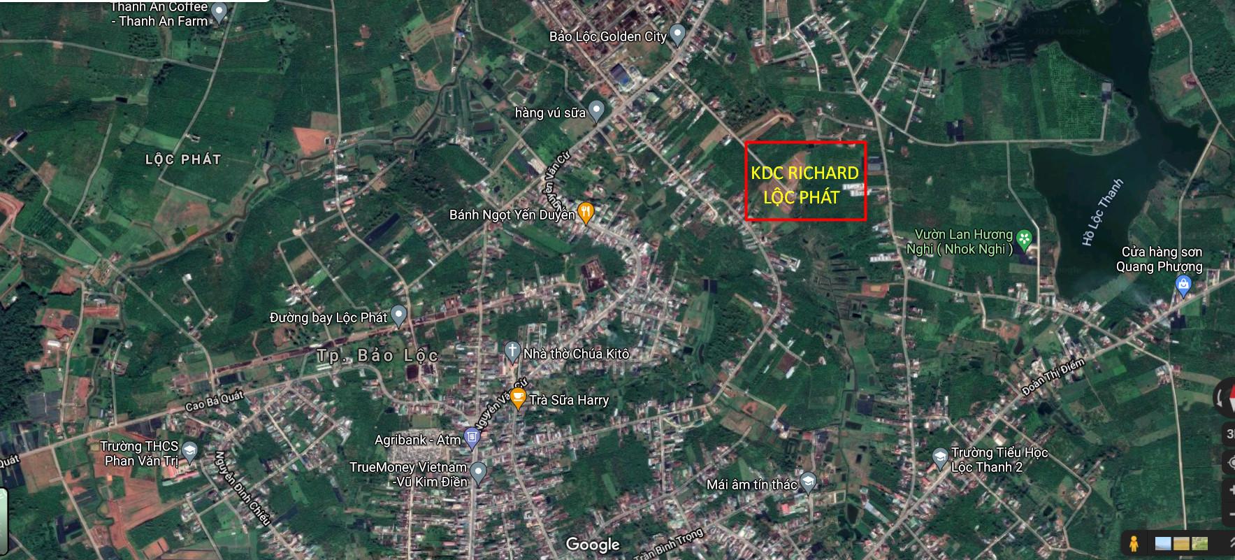 Vị trí khu dân cư Richard Lộc Phát Bảo Lộc