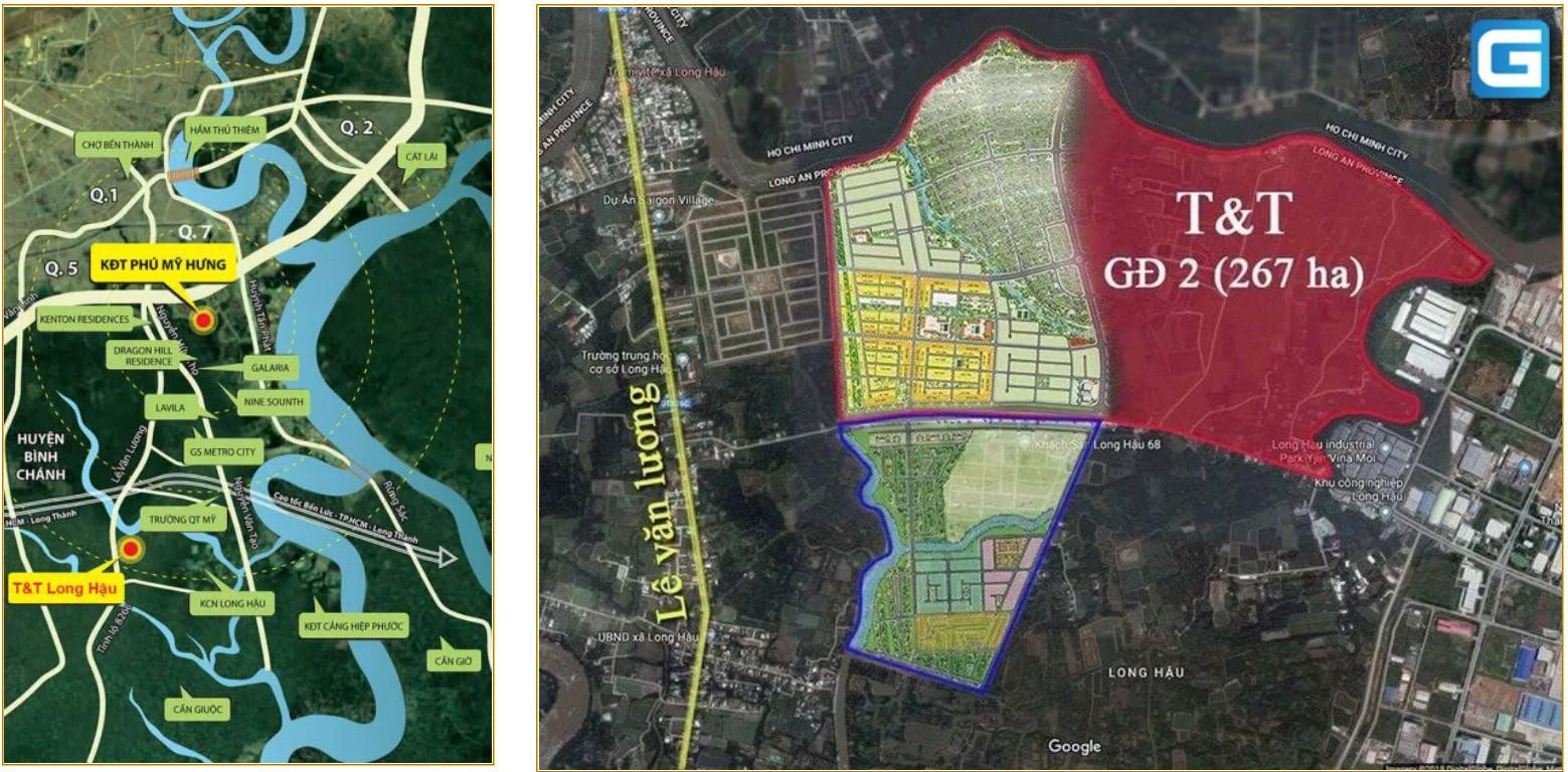 Tổng khu thực tế dự án Millennia City Long Hậu Long An