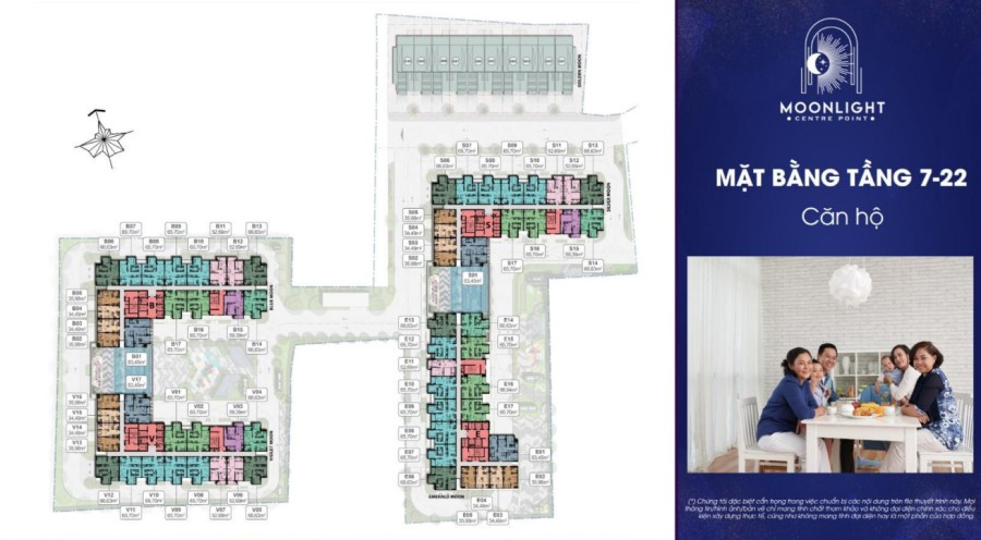 Mặt bằng tầngđiển hình căn hộ Moonlight Centre Point Bình Tân