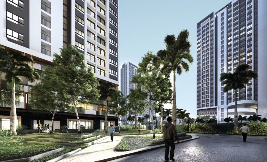 Tiện ích công viên nội khu căn hộ Moonlight Centre Point Bình Tân